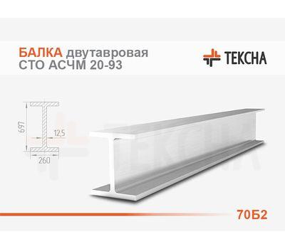 Балка двутавровая 70Б2 СТО АСЧМ 20-93