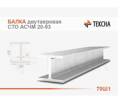 Балка двутавровая 70Ш1 широкополочная  СТО АСЧМ 20-93